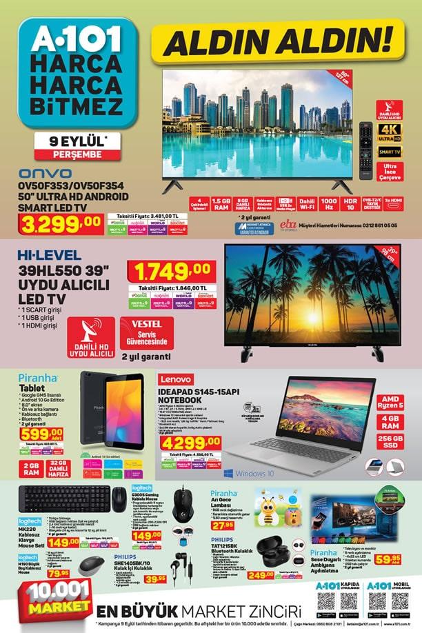 A101 9 Eylül 2021 Aktüel Kataloğu - Lenovo Notebook