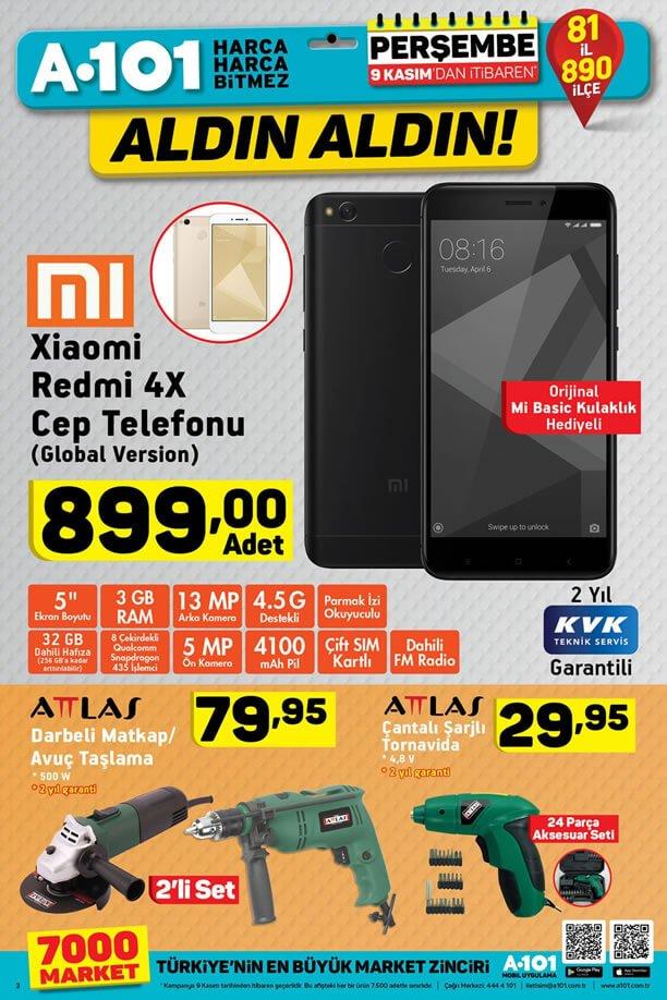 A101 9 Kasım 2017 Xiaomi Redmi 4X Cep Telefonu