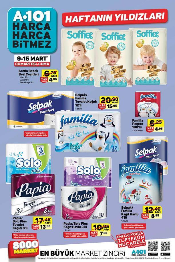 A101 9 Mart 2019 Haftanın Yıldızları - Soffio Bebek Bezi Çeşitleri