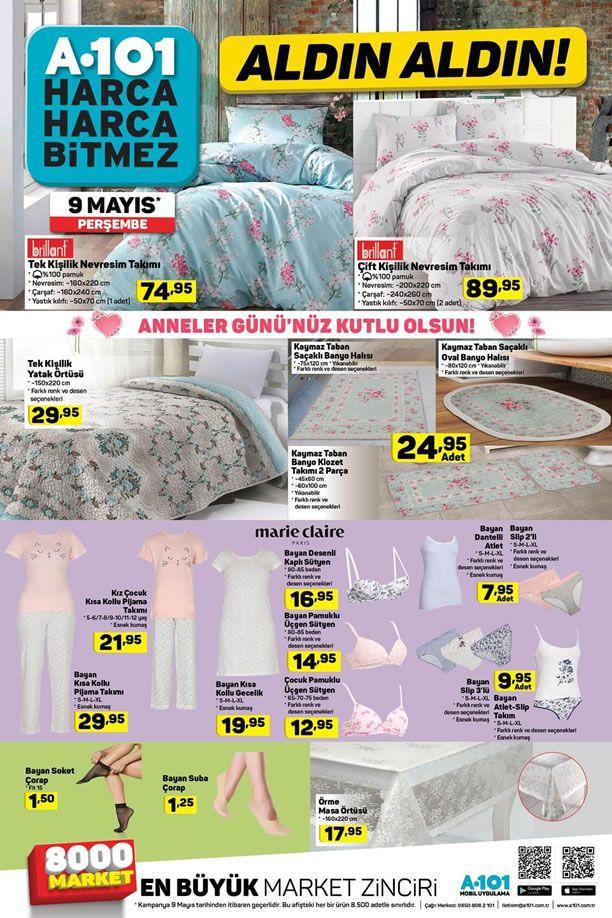 A101 9 Mayıs 2019 Aldın Aldın Kataloğu - Tekstil Ürünleri