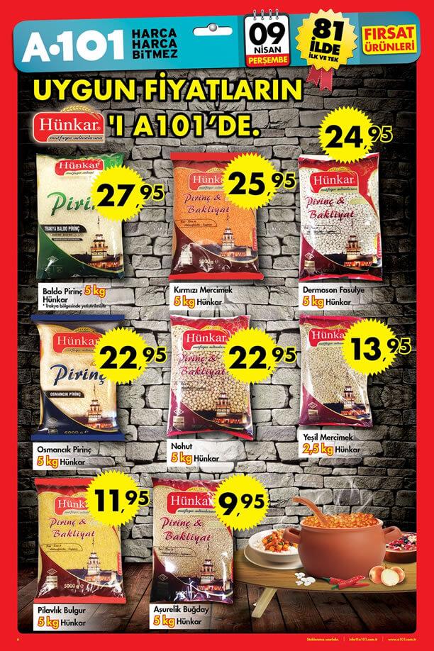 A101 9 Nisan 2015 Aktüel Ürünler Kataloğu - Hünkar