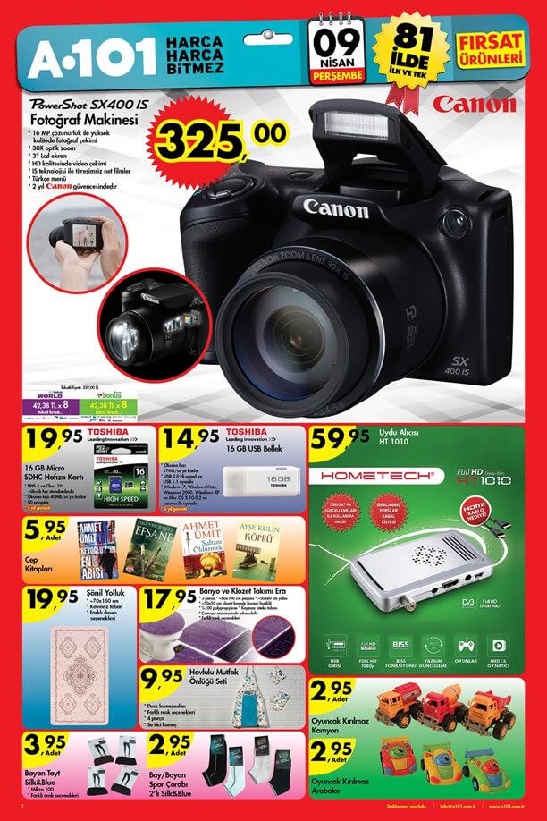 A101 9 Nisan 2015 Perşembe Fırsat Ürünleri Kataloğu