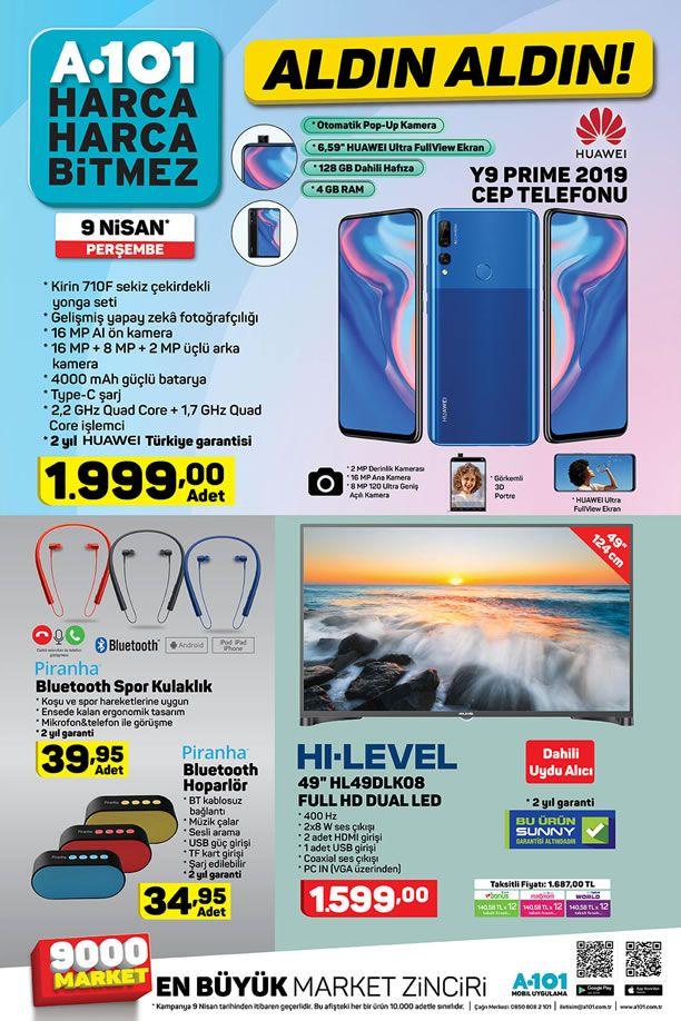 A101 9 Nisan 2020 Kataloğu - Huawei Y9 Prime 2019 Cep Telefonu