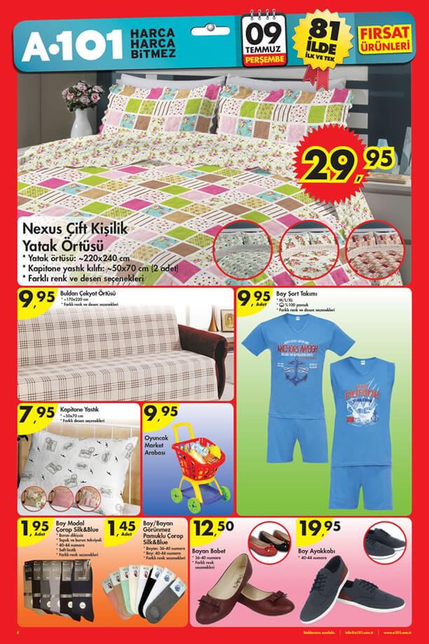 A101 9 Temmuz 2015 Aktüel Ürünler Katalogu - Ev Tekstili