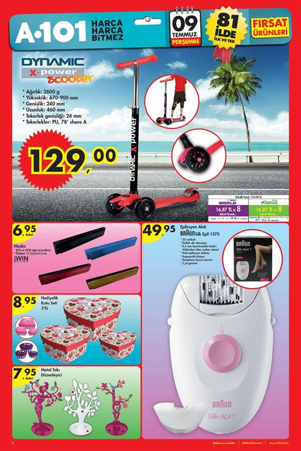 A101 9 Temmuz 2015 Aktüel Ürünler Katalogu - Scooter
