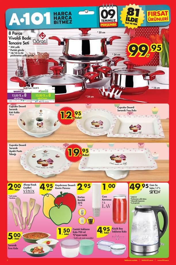 A101 9 Temmuz 2015 Fırsat Ürünleri Katalogu - Mutfak Ürünleri