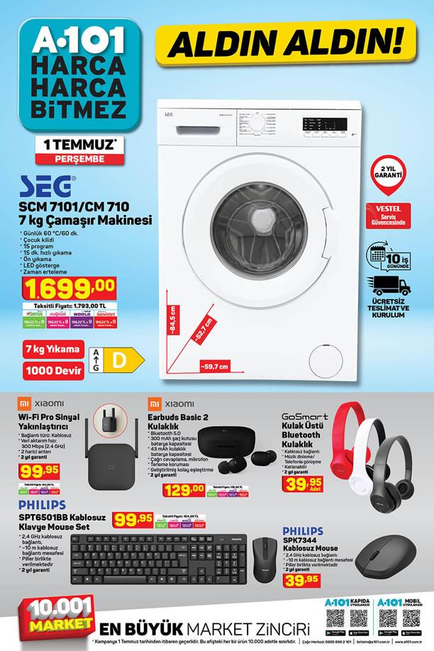 A101 Aktüel 1 Temmuz 2021 Kataloğu - SEG Çamaşır Makinesi