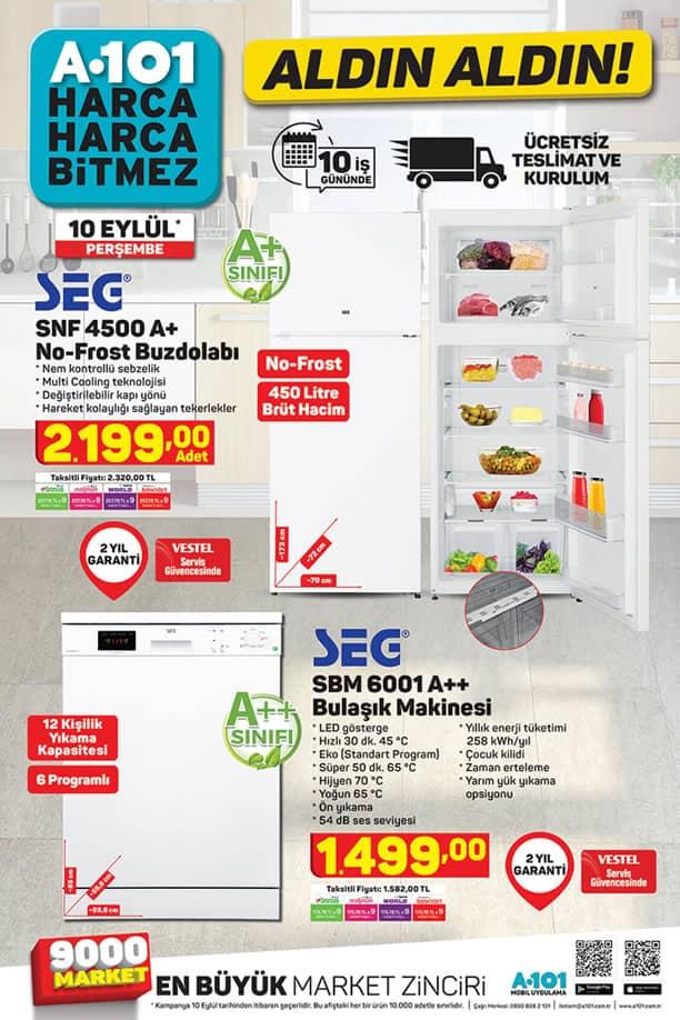 A101 Aktüel 10 Eylül 2020 Kataloğu - SEG No-Frost Buzdolabı