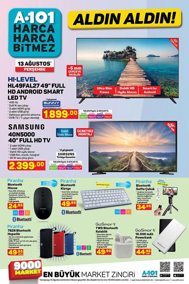 A101 Aktüel 13 Ağustos 2020 Kataloğu - Samsung Full HD Tv