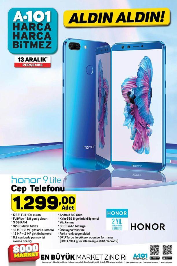 A101 Aktüel 13 Aralık 2018 Kataloğu - Honor 9 Lite Cep Telefonu