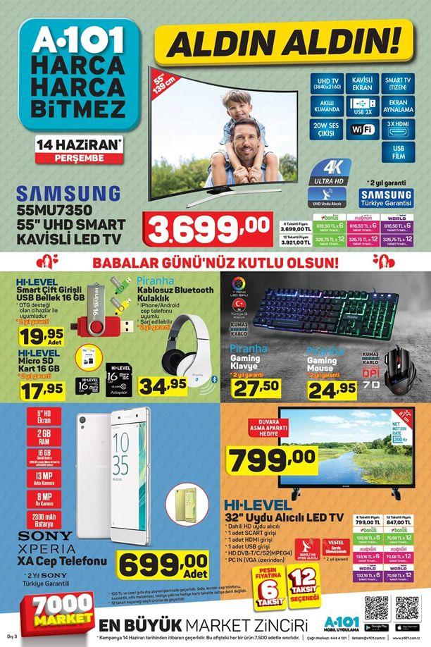 A101 Aktüel 14 Haziran 2018 Katalogu - Sony Xperia XA Cep Telefonu