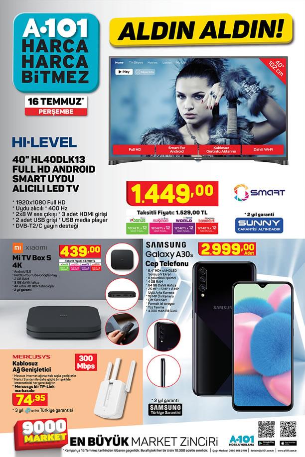 A101 Aktüel 16 Temmuz 2020 Kataloğu - Xiaomi Mi Tv Box S 4K