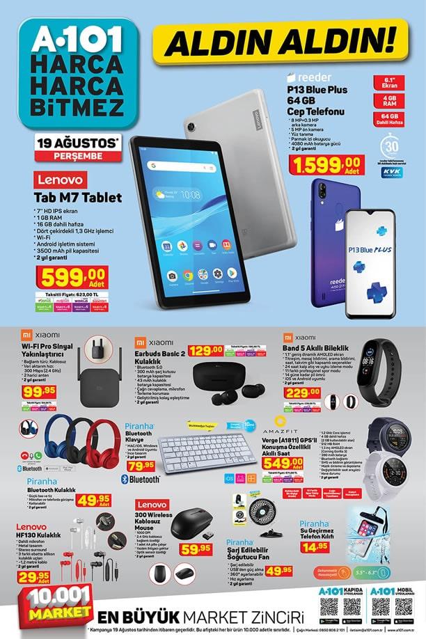 A101 Aktüel 19 Ağustos 2021 Kataloğu - Lenovo Tab M7 Tablet
