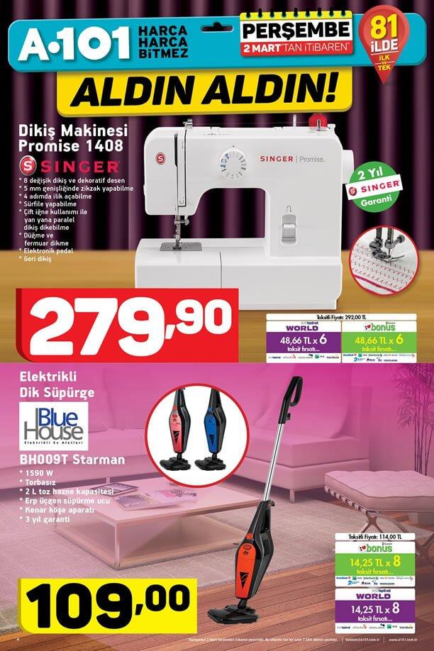 A101 Aktüel 2 Mart 2017 Katalogu - Singer Dikiş Makinesi