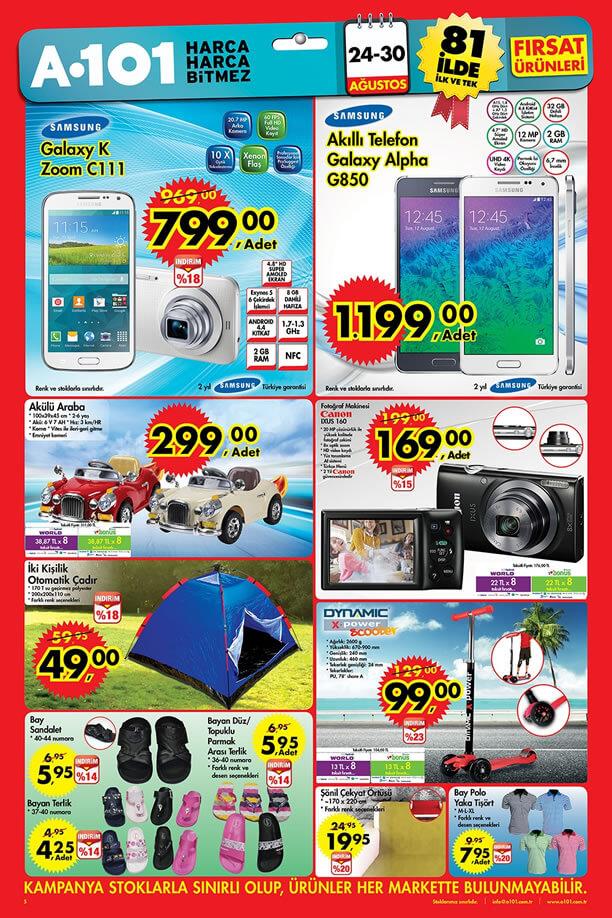A101 Aktüel 24-30 Ağustos 2015 Katalogu - Samsung Galaxy K Zoom C111