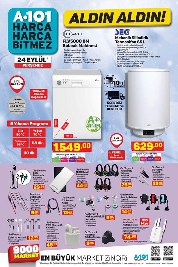 A101 Aktüel 24 Eylül 2020 Kataloğu - FLAVEL Bulaşık Makinesi