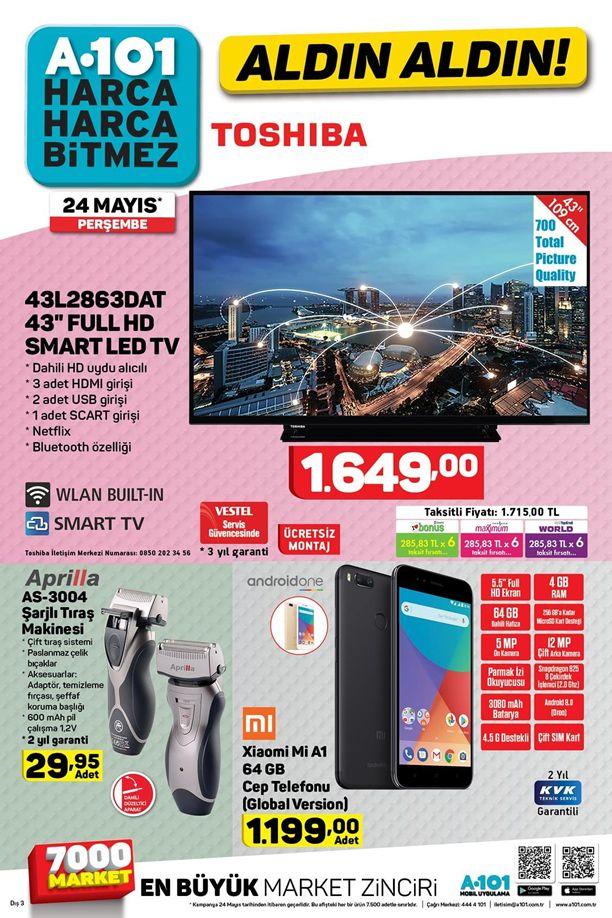 A101 Aktüel 24 Mayıs Katalogu - Xiaomi Mi A1 Cep Telefonu