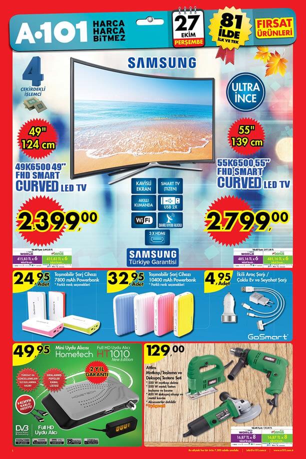 A101 Aktüel 27 Ekim 2016 Katalogu - Samsung Smart Curved Led Tv