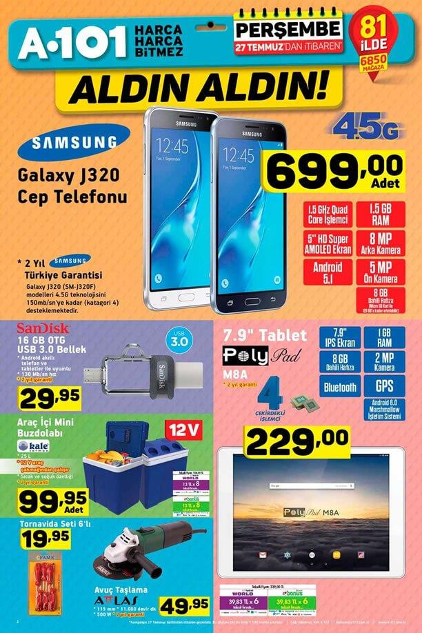 A101 Aktüel 27 Temmuz - Polypad M8A Tablet