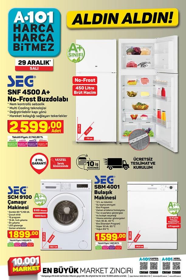 A101 Aktüel 29 Aralık 2020 Kataloğu - SEG Buzdolabı