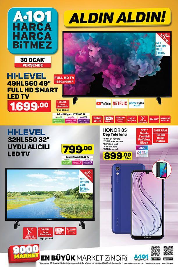 A101 Aktüel 30 Ocak 2020 Kataloğu - Honor 8S Cep Telefonu