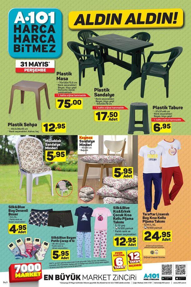 A101 Aktüel 31 Mayıs Katalogu - Plastik Masa