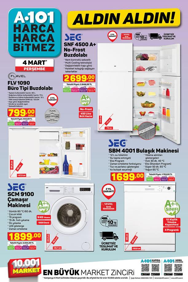 A101 Aktüel 4 Mart 2021 Kataloğu - SEG No-Frost Buzdolabı