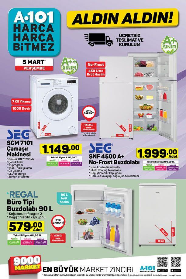 A101 Aktüel 5 Mart 2020 Kataloğu - Regal Büro Tipi Buzdolabı