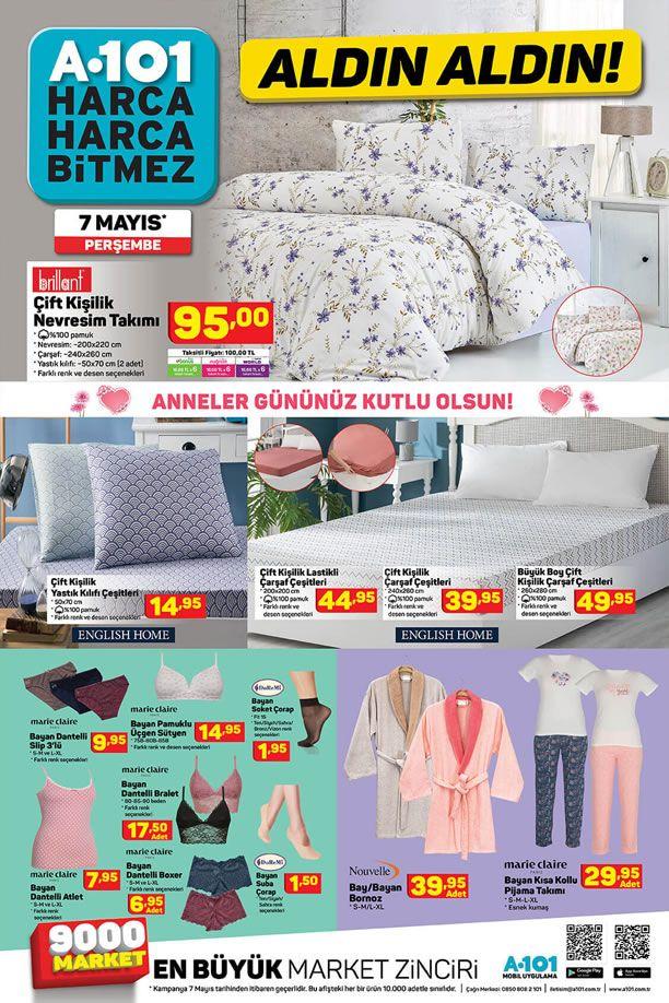 A101 Aktüel 7 Mayıs 2020 Perşembe Kataloğu - Ev Tekstili Ürünleri