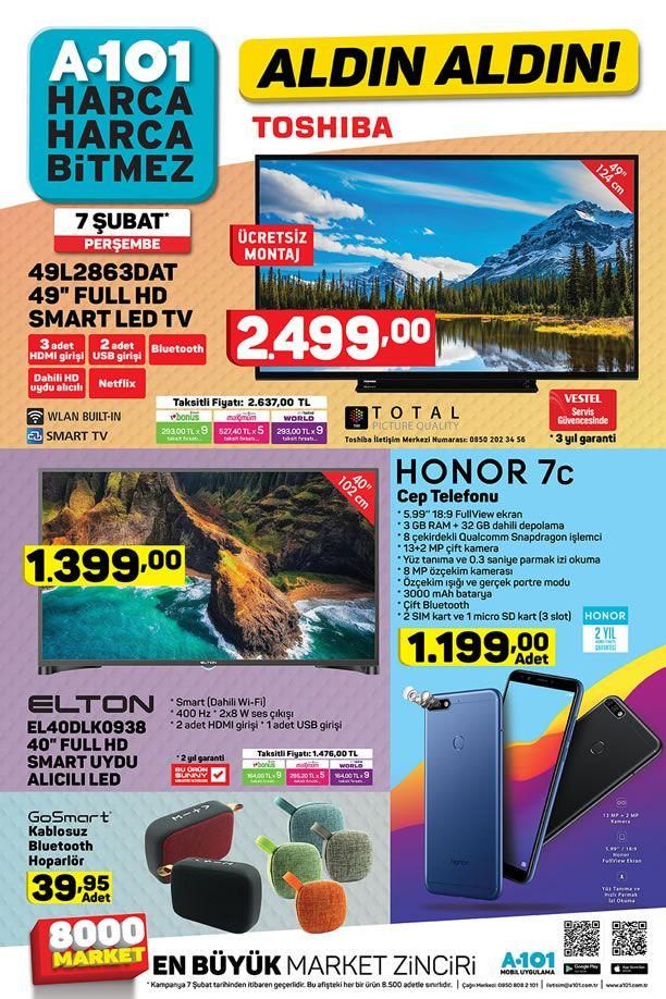 A101 Aktüel 7 Şubat 2019 Kataloğu - Honor 7c Cep Telefonu