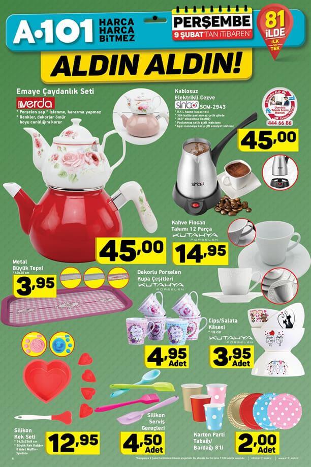 A101 Aktüel 9 Şubat 2017 Katalogu - Verda Emaye Çaydanlık Seti