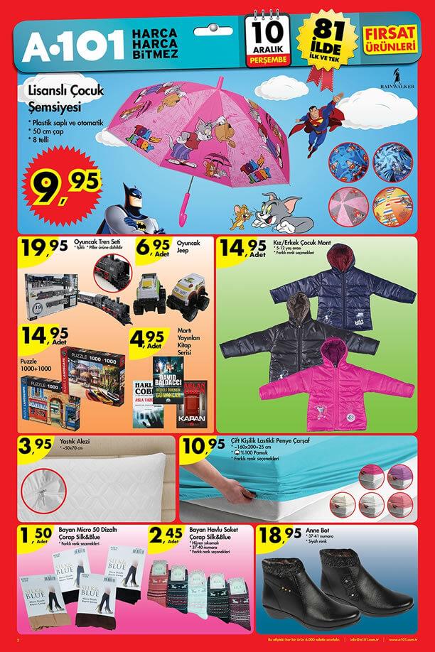 A101 Aktüel Ürünler 10 Aralık 2015 Katalogu - Çocuk Şemsiye