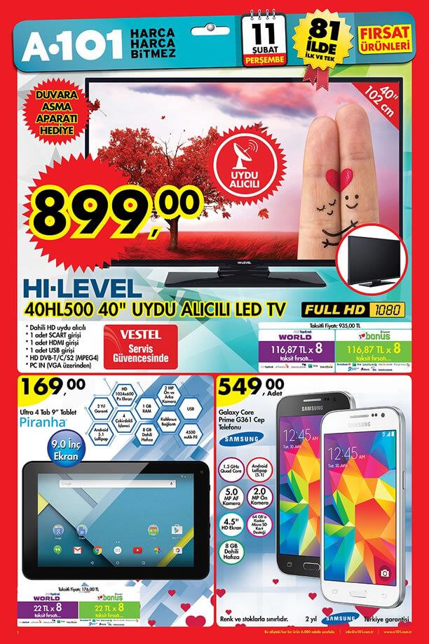 A101 Aktüel Ürünler 11 Şubat 2016 - Samsung Galaxy Core Prime G361