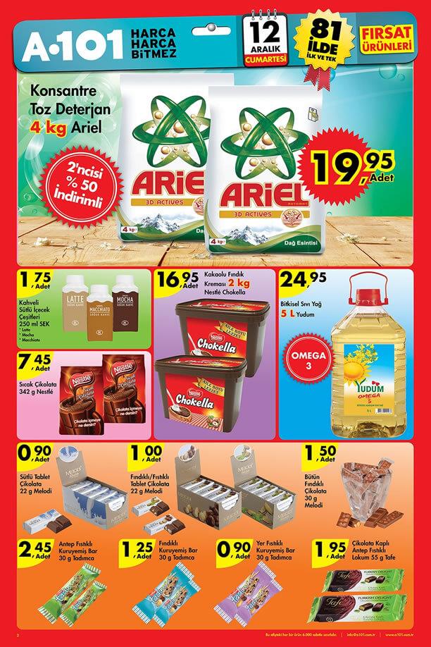 A101 Aktüel Ürünler 12 Aralık 2015 Cumartesi - Yudum Sıvı Yağ