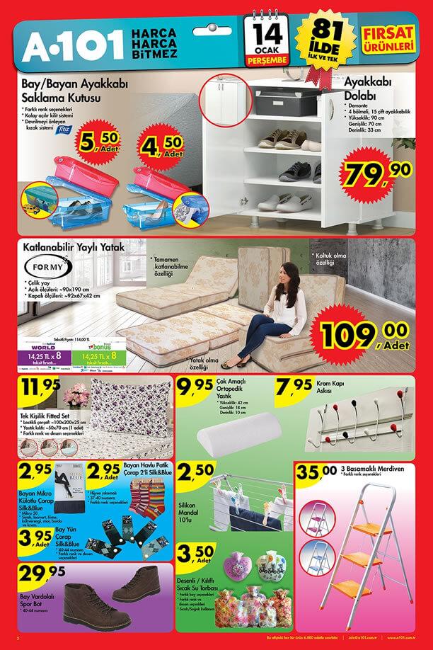 A101 Aktüel Ürünler 14 Ocak 2016 Katalogu - Ayakkabı Dolabı