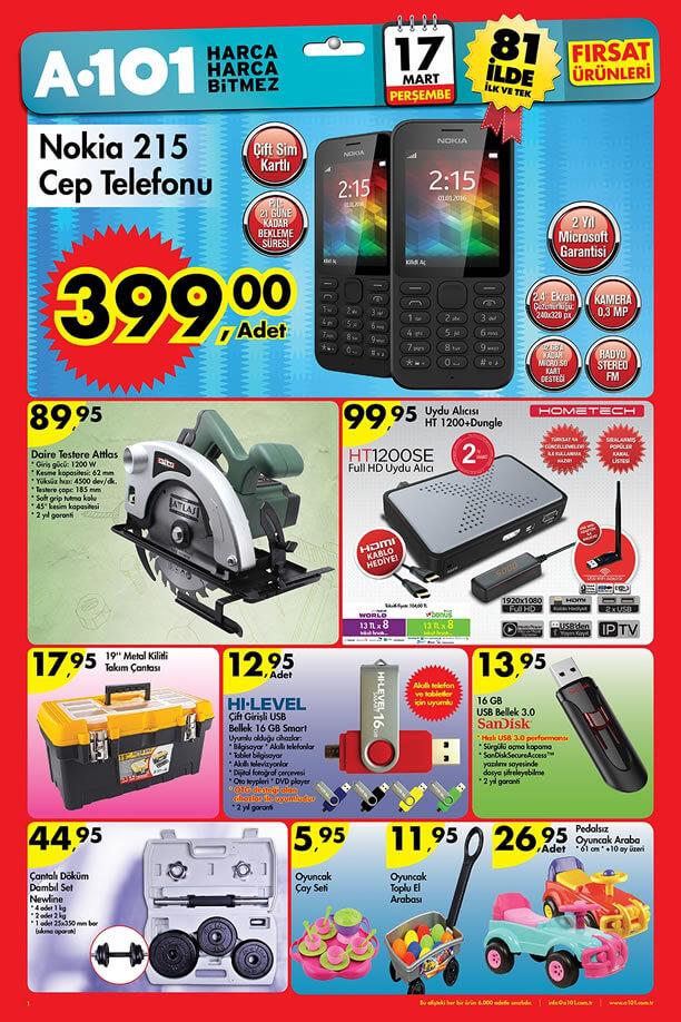 A101 Aktüel Ürünler 17 Mart 2016 Katalogu - Nokia 215 Cep Telefonu
