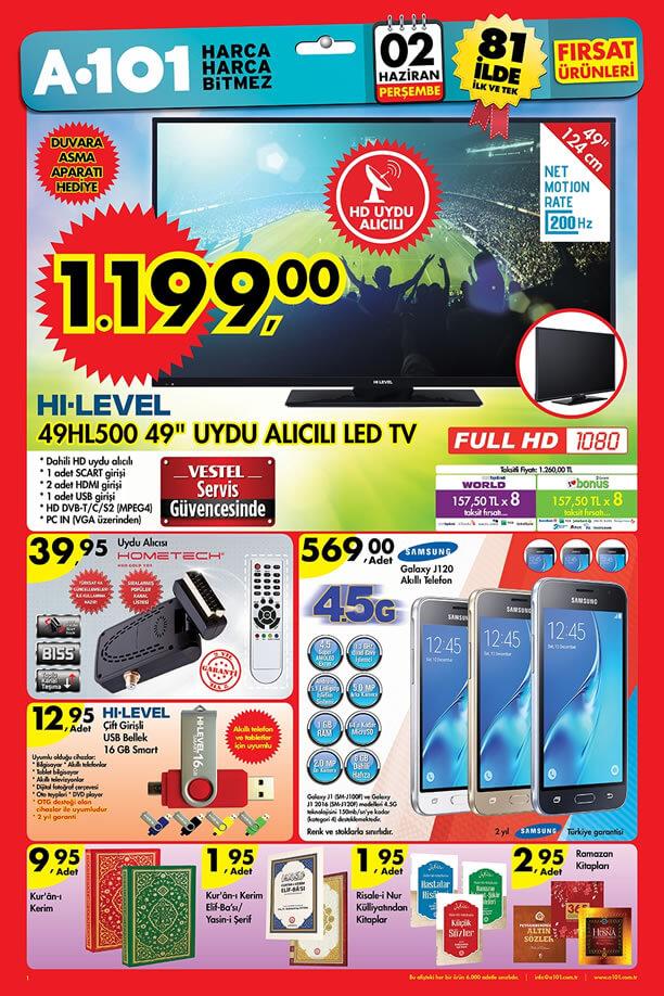 A101 Aktüel Ürünler 2 Haziran 2016 Katalogu - Samsung Galaxy J120