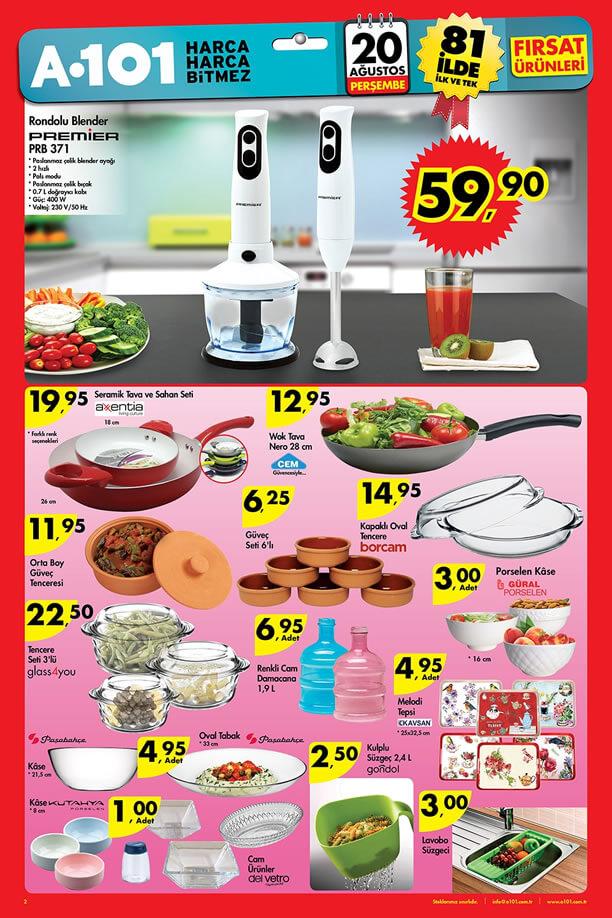 A101 Aktüel Ürünler 20 Ağustos 2015 Katalogu - Rondolu Blender