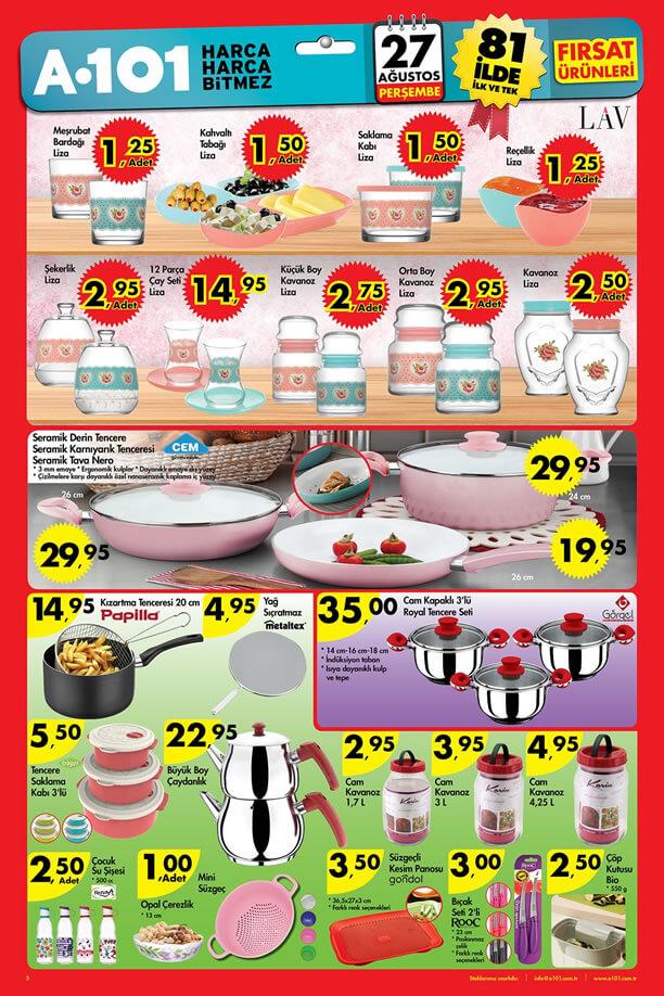 A101 Aktüel Ürünler 27 Ağustos 2015 Katalogu - LAV Liza