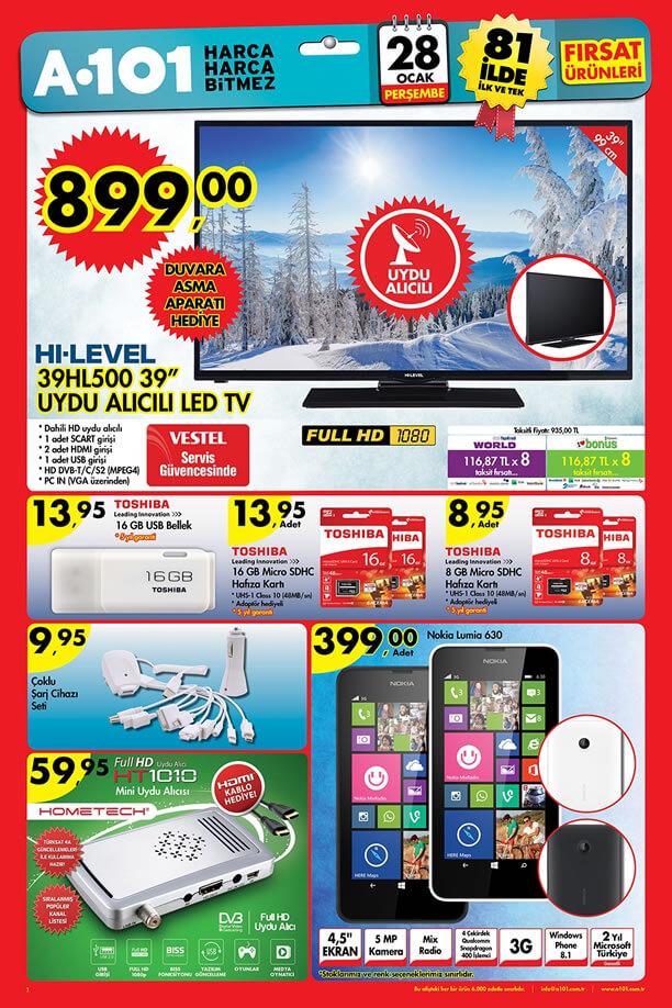 A101 Aktüel Ürünler 28 Ocak 2016 Katalogu - Nokia Lumia 630