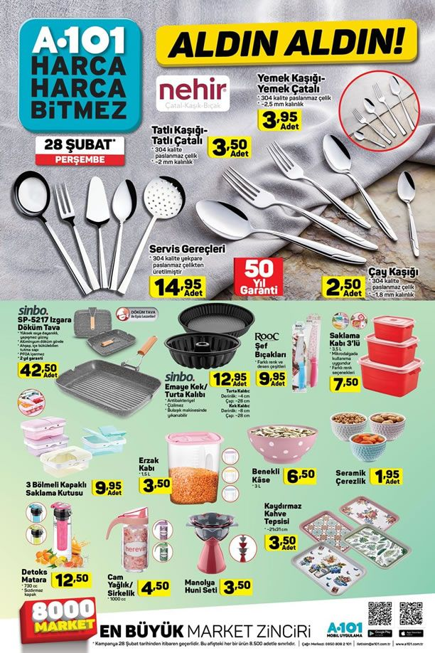A101 Aktüel Ürünler 28 Şubat 2019 Kataloğu - Mutfak Ürünleri