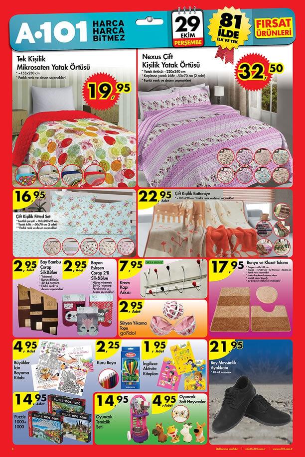 A101 Aktüel Ürünler 29 Ekim 2015 Katalogu - Ev Tekstili