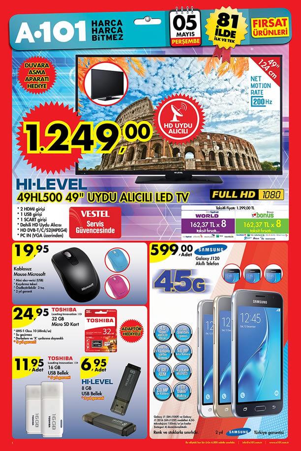 A101 Aktüel Ürünler 5 Mayıs 2016 Katalogu - Samsung Galaxy J120