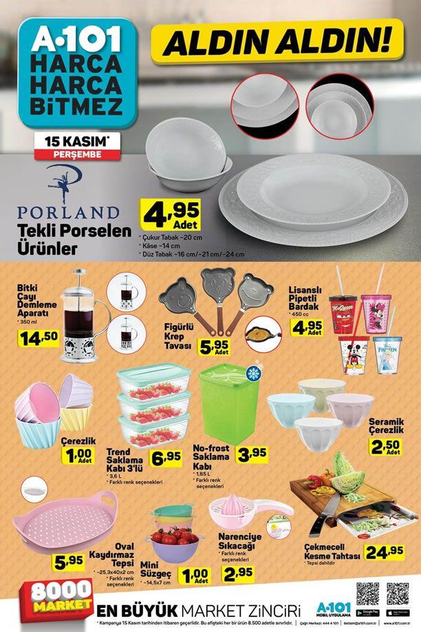A101 Aldın Aldın 15 Kasım 2018 Kataloğu - Mutfak Ürünleri