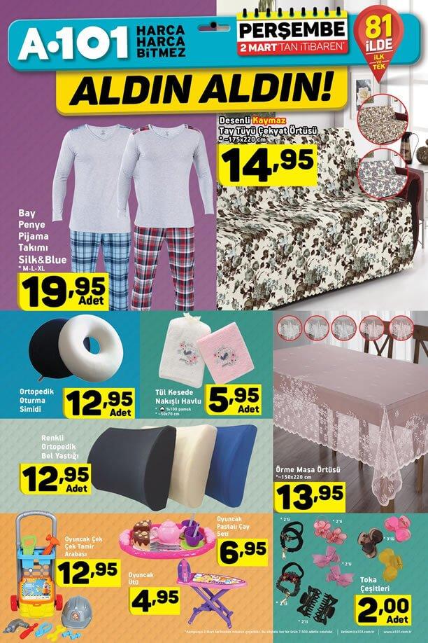 A101 Aldın Aldın 2 Mart 2017 Kampanyası - Pijama Takımı