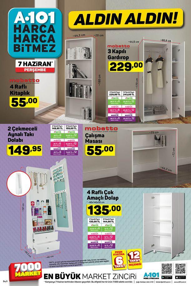 A101 Aynalı Takı Dolabı 7 - 13 Haziran Aktüel Katalogu