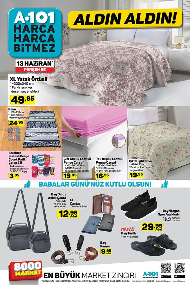 A101 Babalar Günü Kampanyası - 13 Haziran A101 Kataloğu