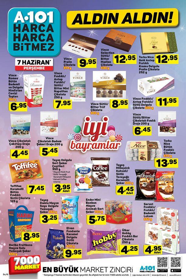 A101 Bayram Şekeri 7 Haziran 2018 Katalogu