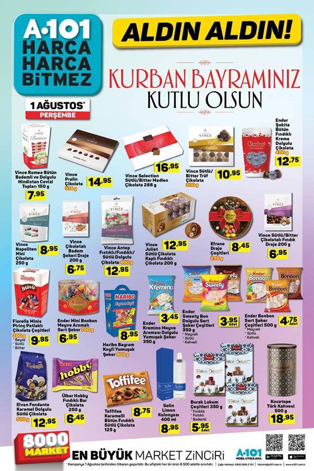 A101 Bayram Şekeri - A101 Market 1 Ağustos 2019 Kampanyası