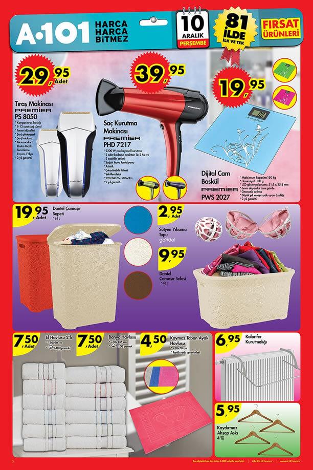 A101 Fırsat Ürünleri 10 Aralık 2015 Katalogu - Premier